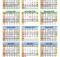 Split Year Calendars 2020 2021 July To June Word Templates