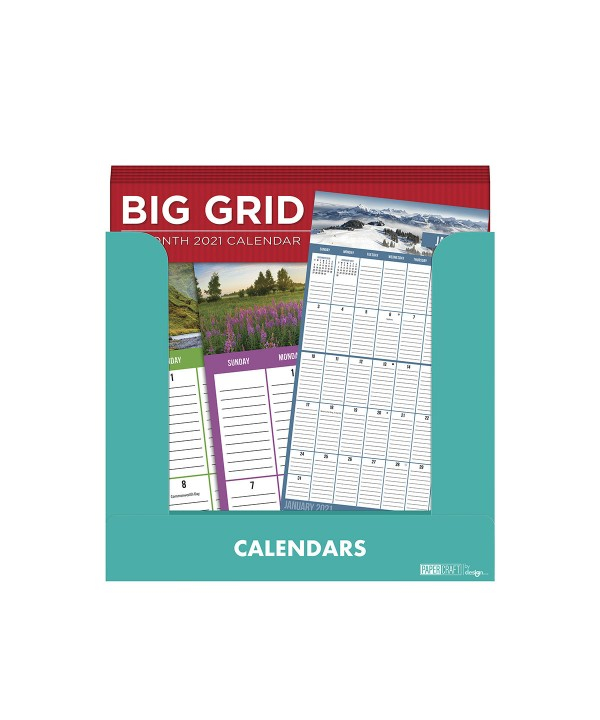 2021 16 Month Big Grid Wall Calendar Paper Craft Products