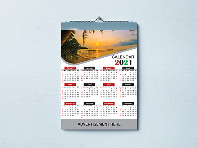 Calendar Design 2021 Free Vector Image PSD And Cdr File