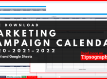 Marketing Campaign Calendar Template For Excel Free