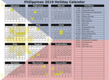 20 2021 Holidays Philippines Free Download Printable
