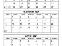 Free Download Printable Calendar 2021 3 Months Per Page