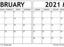 February March 2021 Calendar Templates Time Management