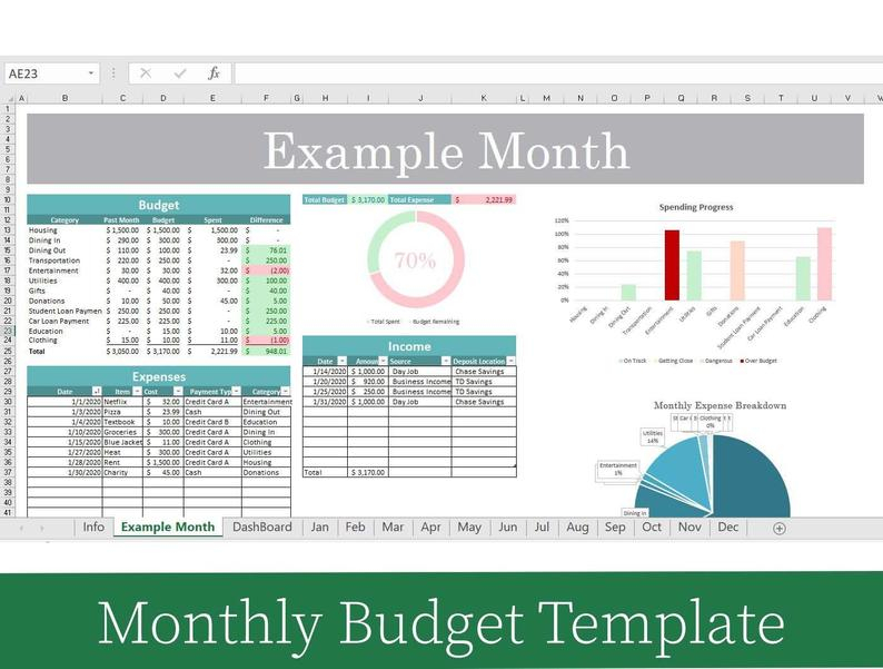 2021 Excel Budget Template Household Budget Template For