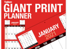 Tallon Giant Print Month To View Calendar 2021 Coleman Group